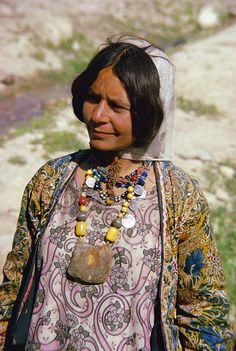 Qashqai woman wearing necklaces in Iran. Robert Harding