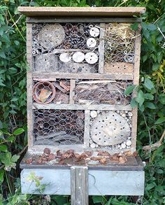 Close up view of my Garden Bug House