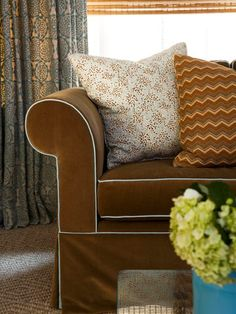 Brown Sofa Slip Cover with Linings