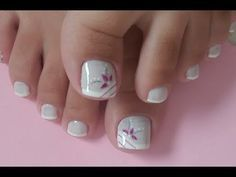 Pedicure Nail Art Design, If you've got hassle decisive that color can best suit your nails, commit to mirror this season or your mood! Pedicure Designs, Pedicure Nail Art, Toe Nail Designs, Acrylic Nail Designs, Toe Nail Color, Toe Nail Art, Nail Colors, Feet Nail Design, Pretty Toe Nails