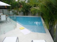 small inground pools for small yards | tranquil pool this stunning pale blue pool creates a refreshing