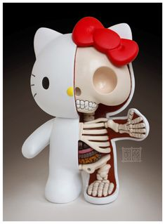 Jason Freeny, a Maryland-born designer who transforms a Lego man and Hello Kitty into dissected copies of themselves.