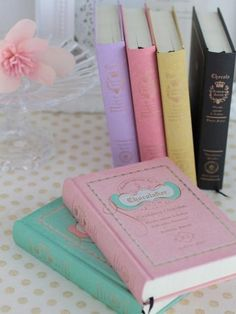 Journals with lovely pastel covers