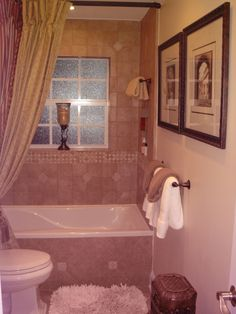 Guest Bathroom, Total bathroom remodel on a budget. Furniture turned into vanity and home made shower curtain., third view, camera flash a b...