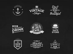 Vintage Logos Template Bundle designed by Souhayb Graya. Connect with them on Dribbble; the global community for designers and creative professionals. Retro Logos, Vintage Logos, Vintage Shops, Marine Shop, Royal Shop, Note Fonts, Free Logo Templates, Design Trends 2018, Behance