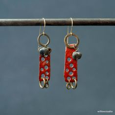 The Color Red Earrings by WillowStudioJewelry on Etsy, $45.00