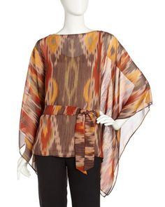 Ikat-Print Batwing Top by Lafayette 148 New York at Last Call by Neiman Marcus.