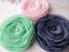 Wedding Hair Flower  Spring Colors Garden by RainwaterStudios, $38.00