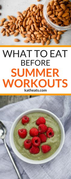 What to Eat Before Summer Workouts - Here's how to stay fueled and hydrated while working out in summer heat! #healthyeating #workouttips #workoutfuel