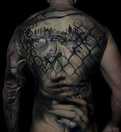 Amazing full back tattoo - 100 Awesome Back Tattoo Ideas