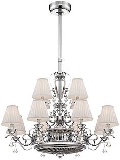 """Unbelievable! """"Fan d'Lier"""" from House of Antique Hardware - beautiful lighting with a cooling fan at its center"""