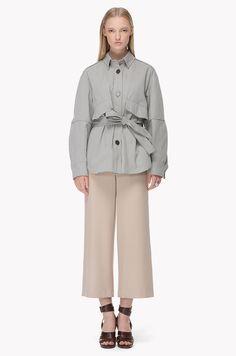 Shirt type belted jacket