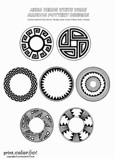 anasazi pottery symbols - Google Search