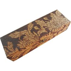Victorian Pyrography Glove Box Burnt Wood Vintage Vanity Collectible was $40 - SALE PRICE $15 http://www.rubylane.com/item/676693-Col241/Victorian-Pyrography-Glove-Box78-Burnt-Wood