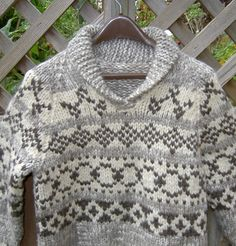 Cowichan sweater patterns Canadian wool knitting kits by raincoaststudio Hand Knitted Sweaters, Sweater Knitting Patterns, Knitting Designs, Men's Sweaters, Fair Isle Knitting, Loom Knitting, Hand Knitting, Cowichan Sweater, Vintage Knitting