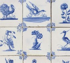 blue and white ceramic tiles - Google Search