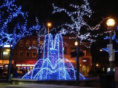 Christmas Lights in Greektown, Toronto, ON.