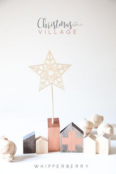 DIY Christmas Village! Cute DIY Holiday decor idea. www.thirtyhandmadedays.com