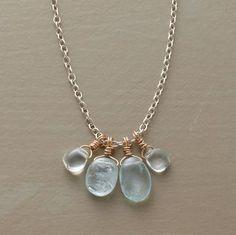 Aqua River rock necklace