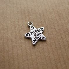 Tibetan Silver Message Charms - Just For You