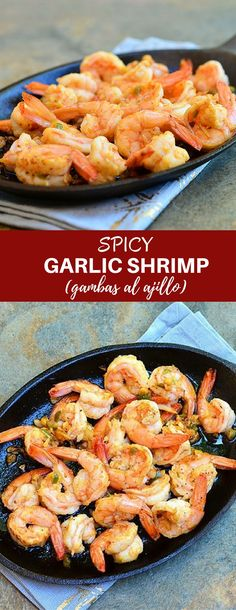 Spicy Garlic Shrimpwith spicy, garlicky sauce is perfect for sopping up with crusty bread! This Spanish tapa, Gambas al Ajillo, has all the big, bold flavors you'll love in an appetizer or dinner meal.