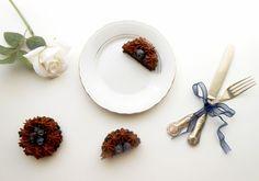 Tortine al cioccolato e mirtilli