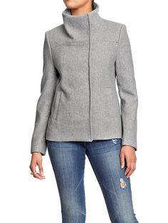 Women's Waist-Length Wool-Blend Jackets Product Image