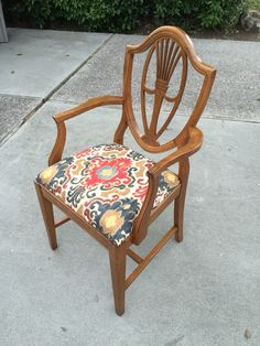 Refinished & reupholstered arm chair