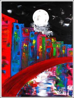 """German Village""...acrylic on stretched canvas...40"" x 30""..©Mac Worthington, artist, 2014"