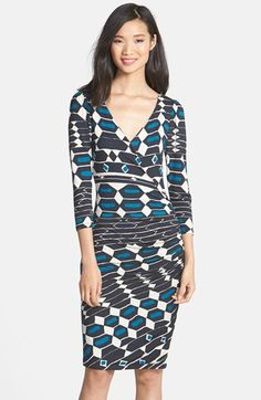 Plenty by Tracy Reese Print Jersey Faux Wrap Dress (Regular & Petite) available at #Nordstrom