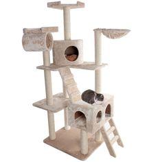 "73"" Casita Cat Tree Condo Scratching Post"