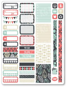 Items similar to Shabby Chic Decorating Kit / Weekly Spread Planner Stickers for Erin Condren Planner, Filofax, Plum Paper on Etsy Printable Planner Stickers, Journal Stickers, Custom Planner, Planner Pages, Life Planner, Happy Planner, Filofax, Erin Condren, Plum Paper