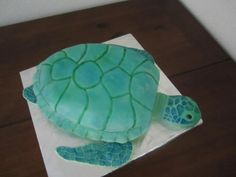Sea Turtle cake.  I used this tutorial as my guideline when making this cake: http://hotcakesbylori.com/blog/2010/06/06/how-do-you-make-a-sea-turtle-cake-part-1-of-3/