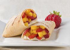 Fruit Stuffed Crepe Burrito