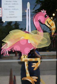 Flamingo Fun Door Hanger by SouthernStyleGifts on Etsy