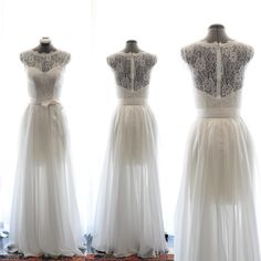 Custom Wedding GownJoan  Vintage 1950s style Wedding by TingBridal, $900.00