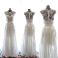 Custom Wedding GownJoan  Vintage 1950s style Wedding by TingBridal, $900.00