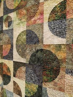 """close up, """"When Worlds Collide - One Completes the Other"""", by Jackie L. Smith.  2013 AZQG.  Photo by Quilt Inspiration"""