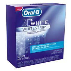 Clareador Dental Oral-B 3D WhiteStrips | Netfarma Seguro para o esmalte dental: eficiente ingrediente branqueador, que não causa dano ao esmalte e com o mesmo ingrediente utilizado por dentistas.