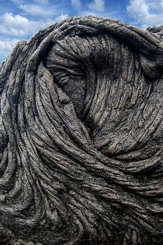 Let's consider, for a moment, the forces and temperatures it took to liquefy rock and raise it into such a formation. Sleeping Pele, a natural lava flow on Big Island, Hawaii, USA
