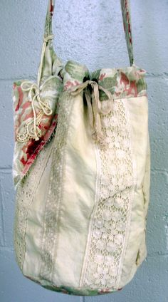 https://flic.kr/p/8i4Py9 | French shopper | lots of old linens and lace. Heart on the side