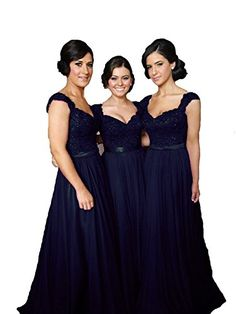 6cf33efd303 New Fanciest Women  Cap Sleeve Lace Bridesmaid Dresses Long Wedding Party  Gowns online - Offerdressforyou