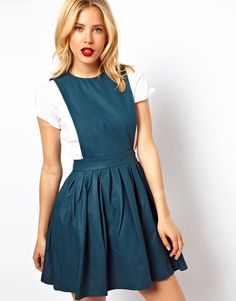 Image result for long pinafore dress