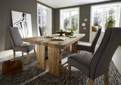 Tisch Loni 220 x 100 cm - Balkeneiche massiv - geölt - natur