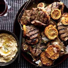 Grilled #Lamb Chops with Roasted Garlic