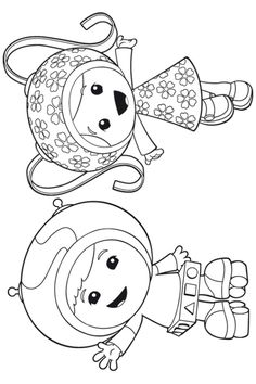 free coloring page Team Umizoomi - Geo and Milli