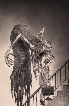 Dirge got a chance to talk with John Kenn Mortensen, aka Don Kenn, about the inspiration for his famous monster drawings on Post-Its. Arte Horror, Horror Art, Don Kenn, Art Sinistre, Art Noir, Art Tumblr, Drawn Art, Arte Obscura, Creepy Art