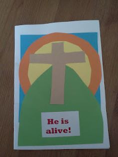 Easy Easter cards for children Holy Week Activities, Easter Activities, Easter Crafts For Kids, Easter Ideas, Craft Kids, Easter Stuff, Easter Art, Holiday Activities, Toddler Crafts