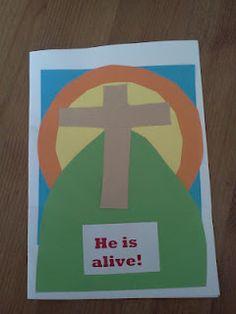 Easy Easter cards for children