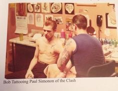 Paul getting inked